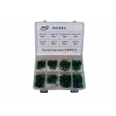 Набор колец O-Ring AC-U072243 зеленый цвет цвет-материал NBR. Всего 230 шт. в наборе