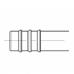 Фитинг АC-U0734 врезной «сростка», под обжим, алюминий, 3/8, G6, №6, #6 (8мм), 180° без стаканов