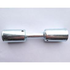 Фитинг AC-U07203 врезной «сростка», под обжим, сталь, 3/8, G6, №6, #6 (8мм), 180°, со стаканами под толстостенный шланг