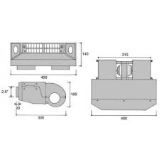 Испаритель автомобильный универсальный Formula III 9814-1034-00 24V 404 SUC11442
